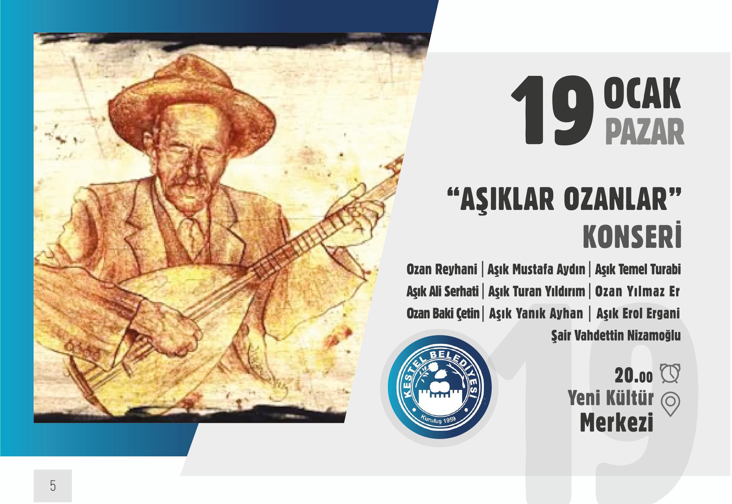 """KONSER """"AŞIKLAR OZANLAR"""""""